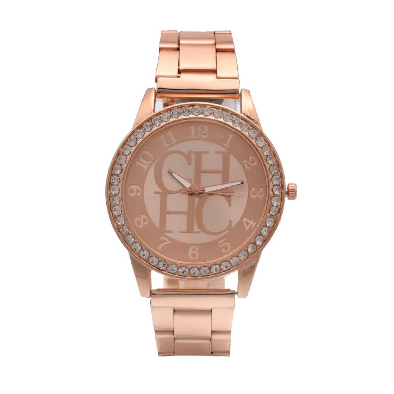 JinGle Fasion Watch Women Luxury  For Girl Stainless Steel Rhinestone Quartz Watch (Rose Gold) Malaysia