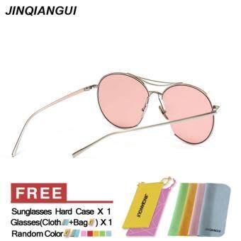 JINQIANGUI Sunglasses Women Oval Sun Glasses Pink Color BrandDesign - 4