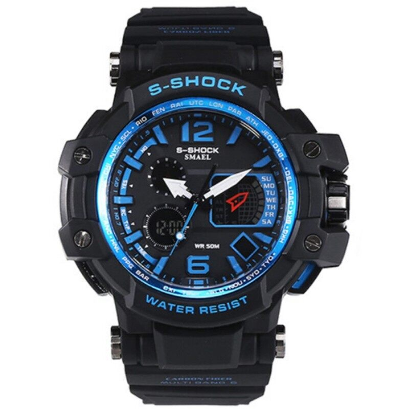 KACOO SMAEL 1509 LED Light Display Waterproof Shockproof Sport Mountain Outdoor Watch Wristwatch Malaysia