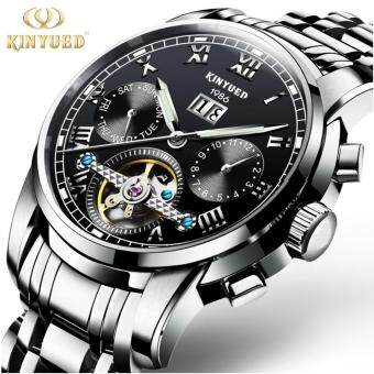 Harga KINYUED Top Brand Mechanical Watch Luxury Men Business Watchs Stainless Steel Band 3ATM Waterproof Calendar Function Mens Famous Male Watches Clock For Men Wrist Watch