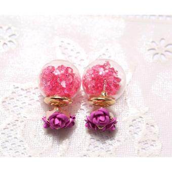 Harga Korea Crystal Fashion 2 Way Wearing Earring