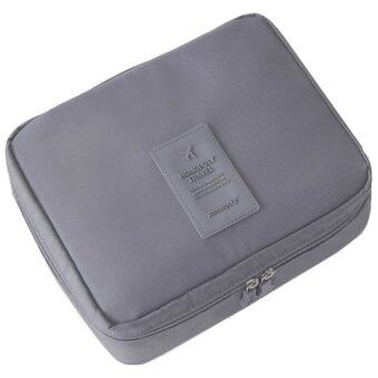 Harga Korea Fashion Multifunction travel toiletries cosmetic pouch ver.2Extra Large (Grey)