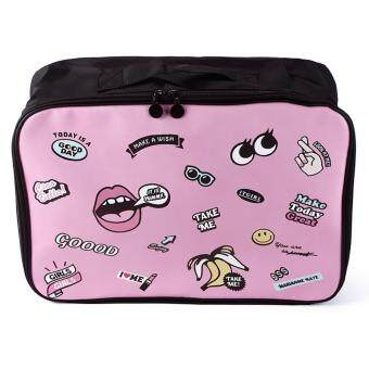 Harga Korea Yummy Travel Bag Iconic Patterns Luggage Storage OrganizerPacking Case Clothes Towel Cosmetic Pouch