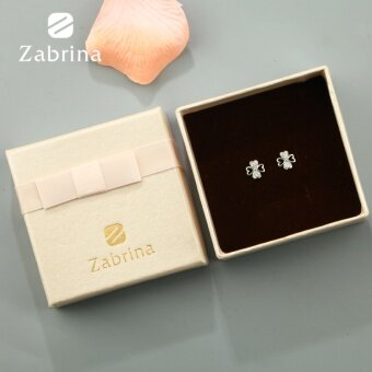 Korean-style elegant student earrings silver stud
