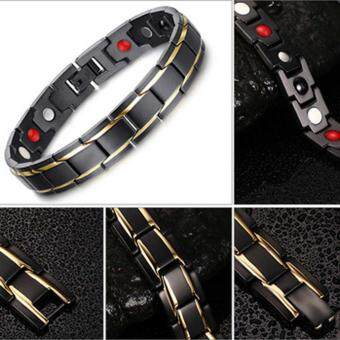 Kuhong Magnetic Black Titanium Steel Bracelet Of Health TherapyCare Function Bracelet