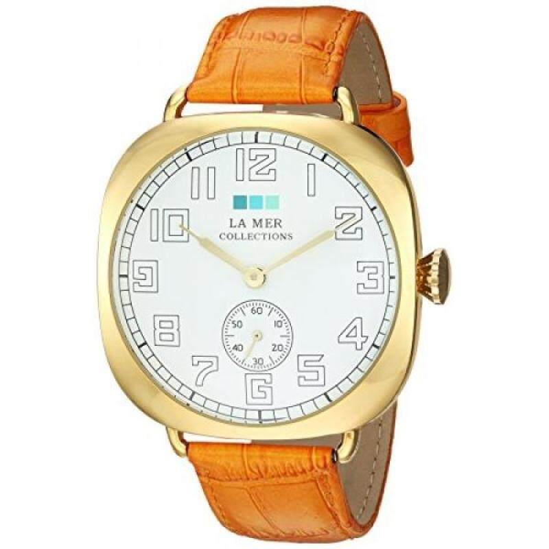 La Mer Collections Womens Quartz Metal and Leather Casual Watch, Color:Orange (Model: LMOVW9503) Malaysia