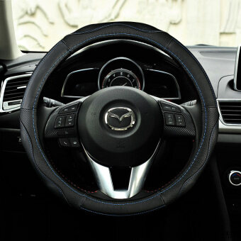 Harga Leather steering wheel cover Mazda 3 angkesaila star Cheng cx-5core-wing M6 art hereby CX-4 car to cover