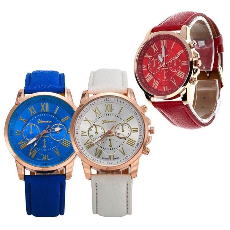 leegoal 3pcs Of Fashion Unisex Rose Gold Digital Quartz Watches Malaysia