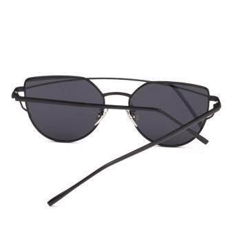 Detail Gambar Produk leegoal Fashion Women Sunglasses Sunscreen Anti-UV Color Film Sunglasses , Black
