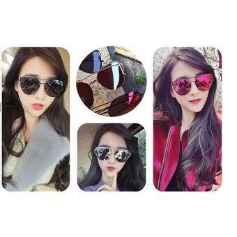 leegoal Fashion Women Sunglasses Sunscreen Anti-UV Color FilmSunglasses , Sliver And .