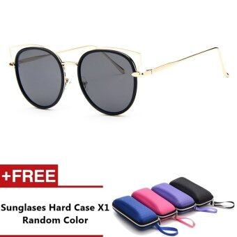 Harga Lewes Brand Unisex Retro Aluminum Sunglasses Polarized Lens VintageEyewear Accessories Sun Glasses For Men/Women (Gold+Grey)