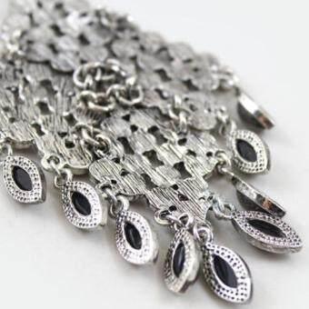 [Little B House] Silver Color Tassel Alloy Earrings 10.6cm - ER239 - 4