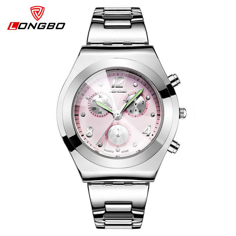 Long wave LONGBO fashion strip three eyes watch Watch Diamond wholesale 8399 Malaysia
