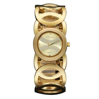 Luxury Amuda Brand Fashion Women's Bracelet Watch Women Full SteelQuartz Watch Ladies Dress Watches(Golden)
