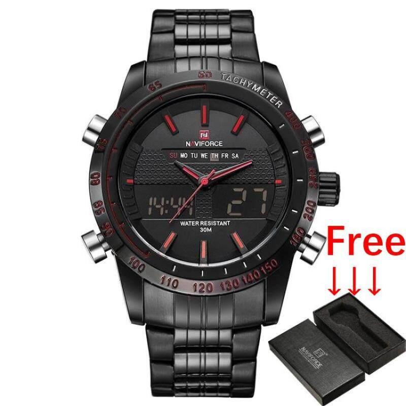 Luxury Brand NAVIFORCE Men Fashion Sport Watch Jam Tangan es Mens Quartz Analog Digital Clock Man Full Steel Wrist Watch Jam Tangan Malaysia
