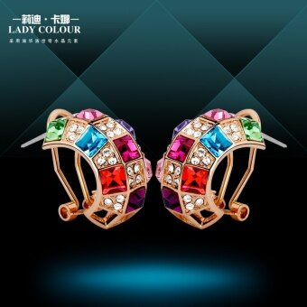 Harga Lydie Kana in a Swarovski elements crystal earrings ear clipKorean-style temperament female models with accessories