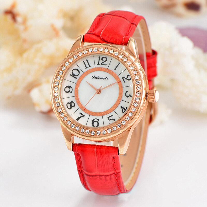 Manufacturers spot belt ladies watch watch student fashion diamond quartz watch digital surface waterproof Malaysia