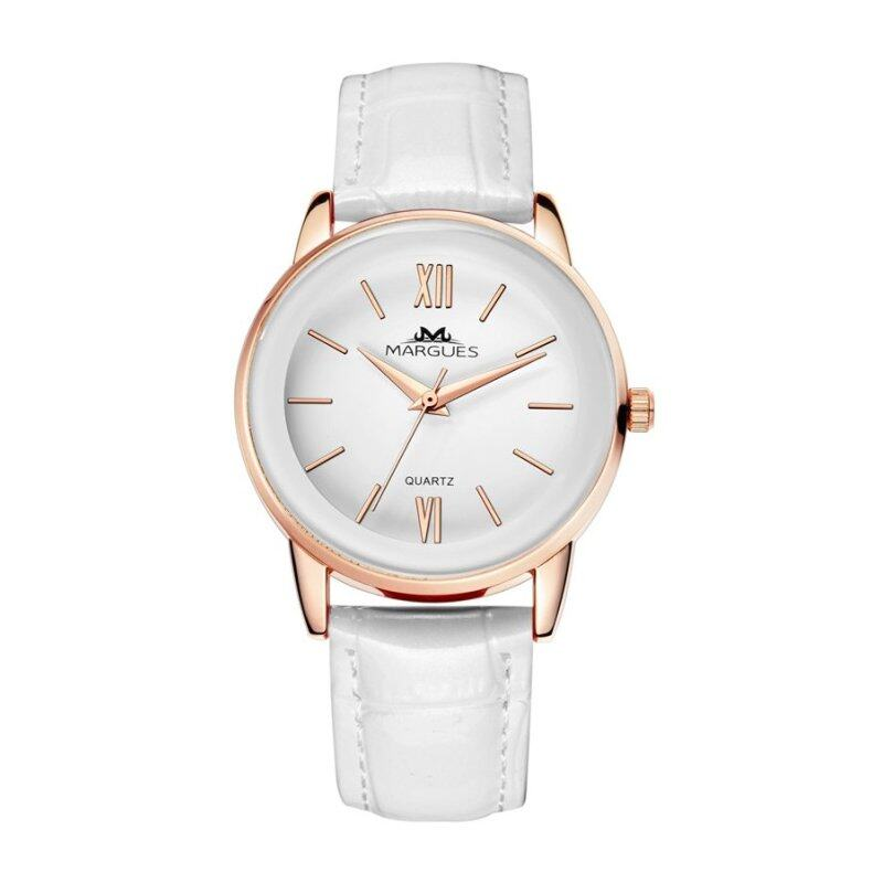 Margues M3027 Seiko Movement Casual Genuine Leather Women Watch (White) Malaysia