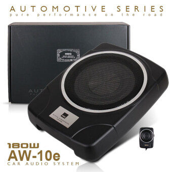 "Harga MBQ AW-10e 10"" Car UnderSeat Super Slim Active Subwoofer"