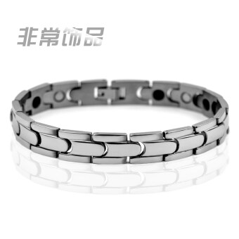Men's titanium steel germanium magnet health radiation bracelet
