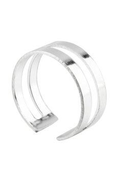 Metal Alloy Knuckles Womens Adjustable Ring Set of 3(Silver) - 4