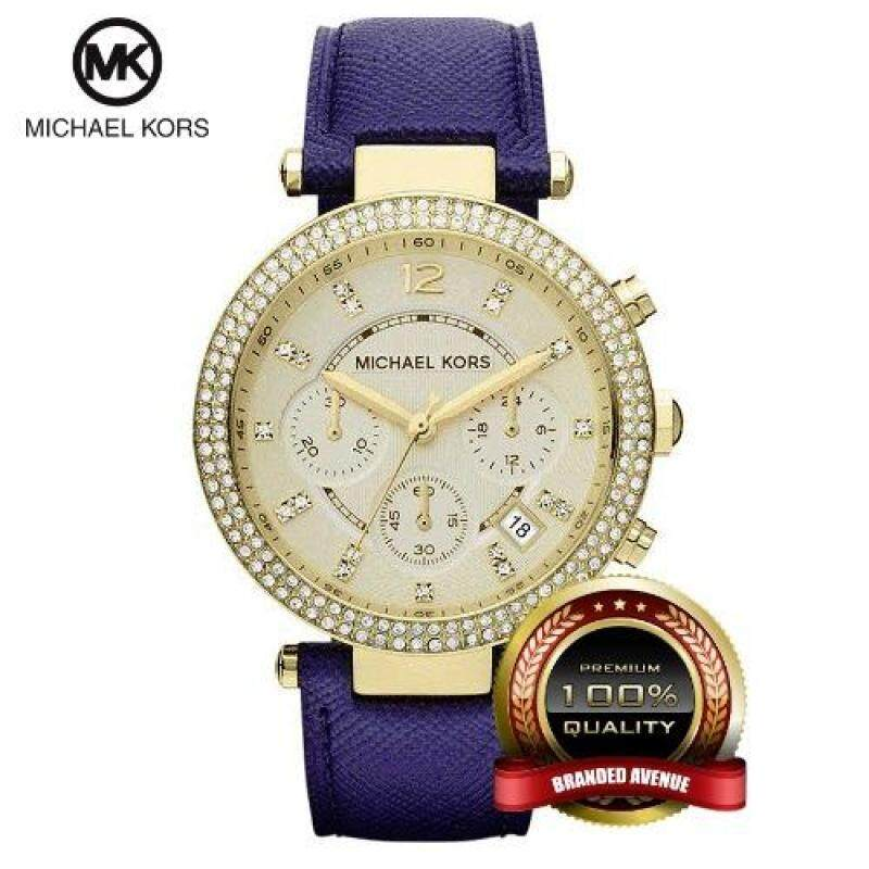 Michael Kors MK2280 Parker Swarovski Element Chronograph Watch (Blue) Malaysia