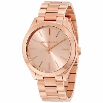 Harga Michael Kors Women's Slim Runway Rose Gold-tone Watch MK3197