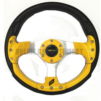 MOMO 13 inch PU Steering Wheel/Drifting Steering Wheel/RacingSteering Wheel - YELLOW
