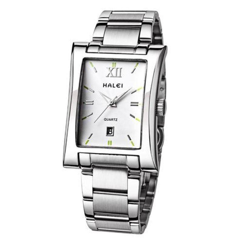 moob Genuine Men Square Watch solid stainless steel waterproof Mens watch wholesale import quartz movement one generation (White) Malaysia