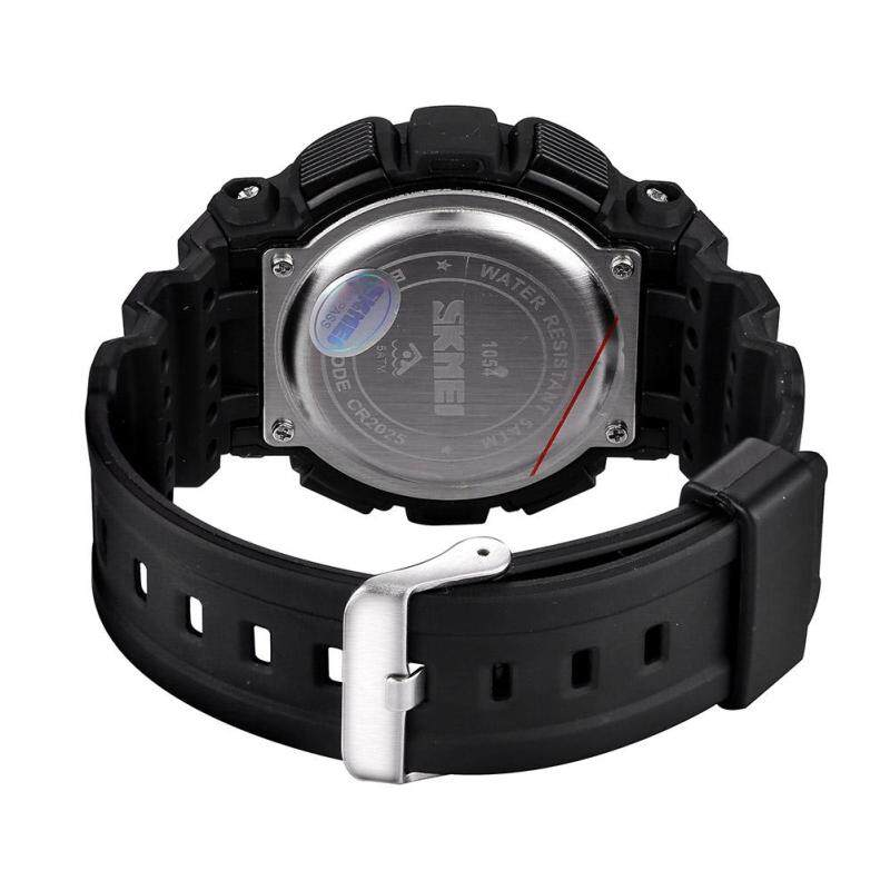 moob SKMEI authentic fashion students watch electronic watches wholesale multicolor tide (Red) Malaysia