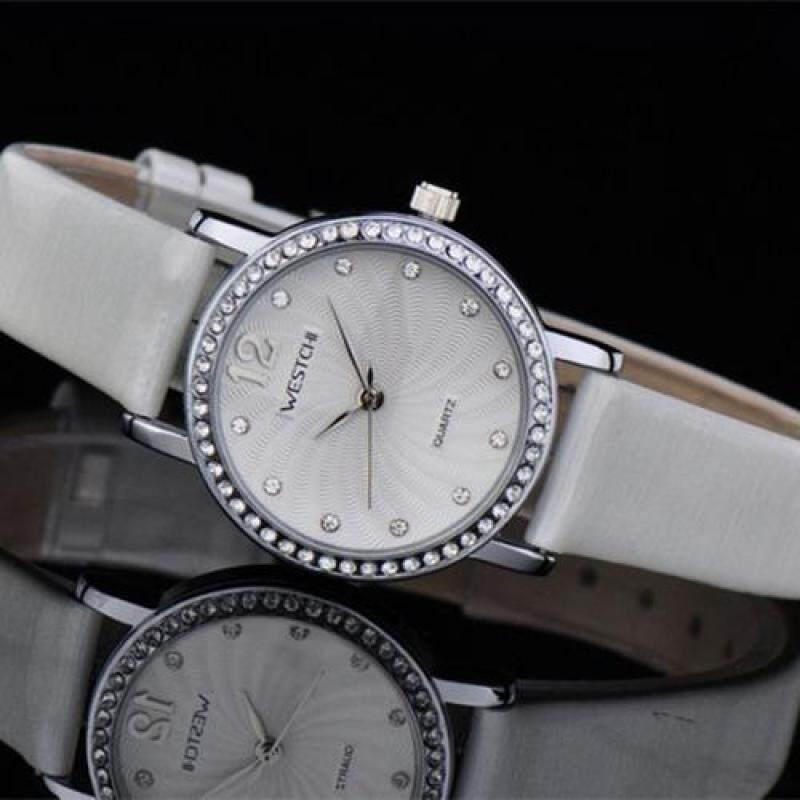 moob West Chi westchi genuine disc drill scale belt quartz watch W3113L Watch (SilverWhite) Malaysia