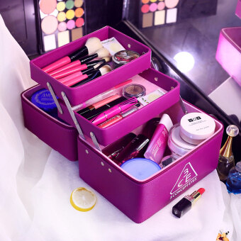 Multi-function large portable professional cosmetic case storagebox