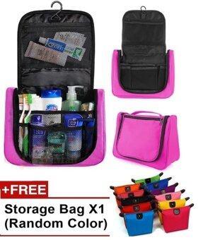 Multifunction Travel Hanging Wash Bag Toiletry Bag Pink FREE make up bag