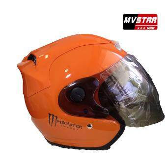 Harga Mv Star Helmet Monster Meduim/Large Size Color Matt Black, Blue, Candy Red, Green
