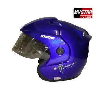 Harga MV STAR Rs1 Monster Helmet Meduim/Large Size Black, White, FlatBlack, Grey