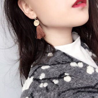 National Style metal black elegant earrings stud
