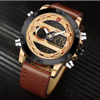Harga NAVIFORCE Luxury Brand Men Waterproof Military Sports Watches Men'sQuartz Digital Leather Wrist Watch Man Quartz Clock