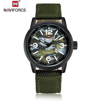 NAVIFORCE Mens Watches Top Brand Luxury Military Quartz Men Sports Watches Analog Clock Casual Nylon Watches