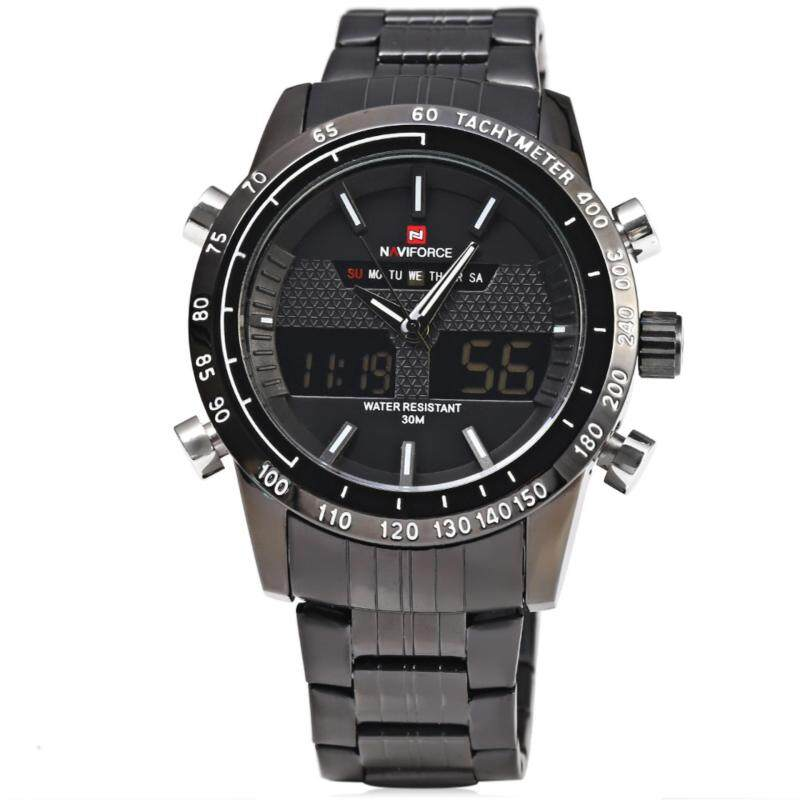 NAVIFORCE NF9024 Luxury Dual Movt Men Quartz Watch Analog Digital LED Sport Wristwatch Malaysia