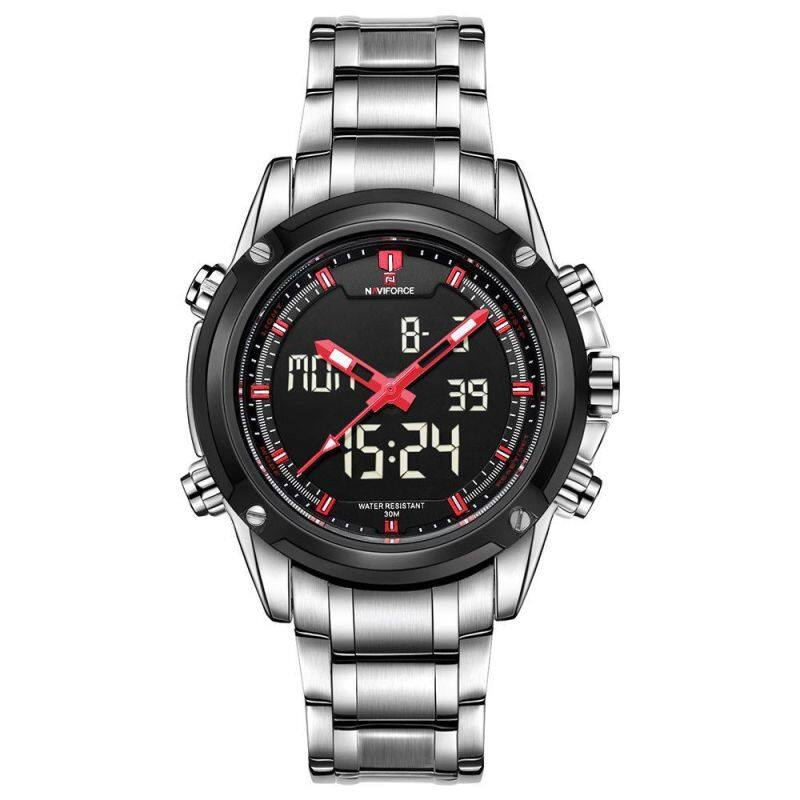 NAVIFORCE NF9050 Dual Movt Men Quarz Watch Analog Digital LED Malaysia