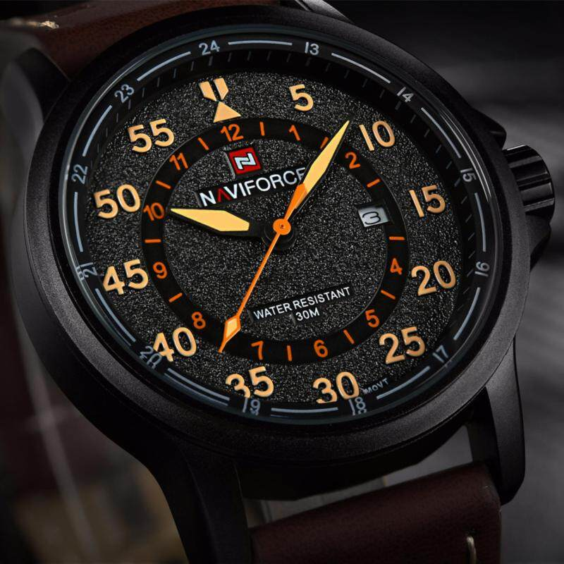 NAVIFORCE Top Brand Luxury Fashion Male Sports Watches Mens Quartz Hour Date Clock Man Leather Strap Military Army Waterproof wristWatch Malaysia