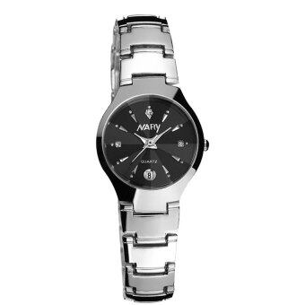 New Arrival NARY 6112 Single Calendar Couple's Quartz Watch(black)