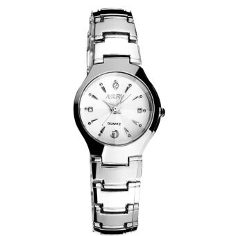 New Arrival NARY 6112 Single Calendar Quartz Watch(White/One Watchfor Women)