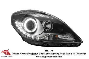 Nissan Almera LED Ring Projector Head Lamp