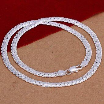 Harga Okdeals Unisex 5MM 925 Solid Sterling Silver Necklace Chain 20""