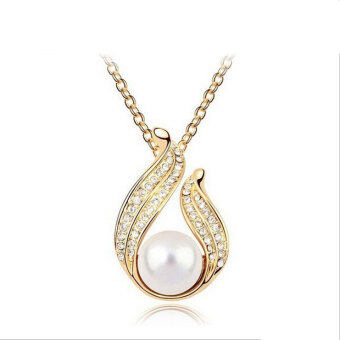 Harga ONLY 24k Golden Plated Happy Pearl Necklace
