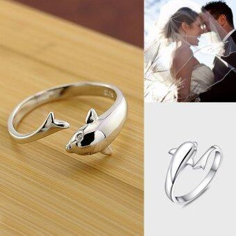 Harga Open Ring Dolphin Valentines Gift Lovers Ring