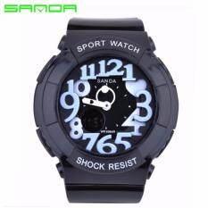 Original SANDA 234 Kids Waterproof Analog + Digital Wrist Watch (Black White) Malaysia
