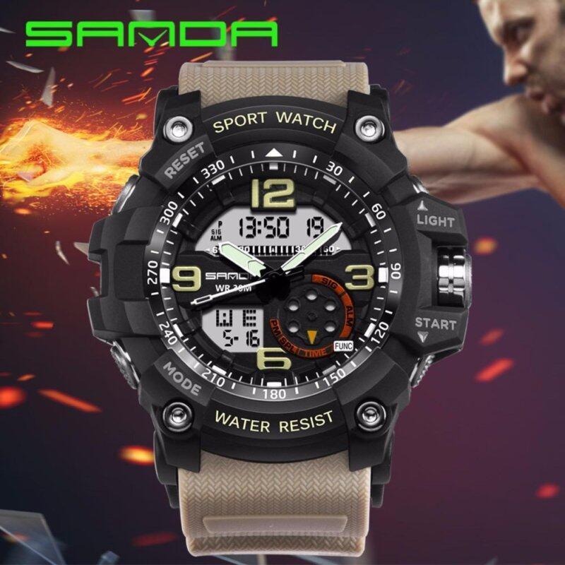 Original SANDA 759 G Style Military Waterproof Outdoor Sports Mens Shockproof Digital Watch (Black Grey) Malaysia