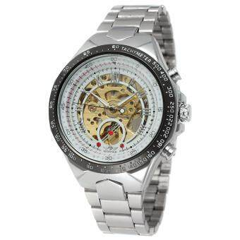 Harga Original Winner Russian Man Luxury Branded Stainless Steel Self Winded Mechanical Watch[ 11 Colors ]